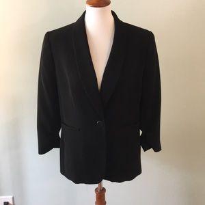 Black Size 10 Nine West Blazer 3/4 Sleeve